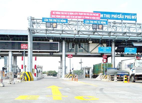 Trạm thu phí cầu Phú Mỹ (TPHCM)  đã áp dụng thu phí tự động không dừng