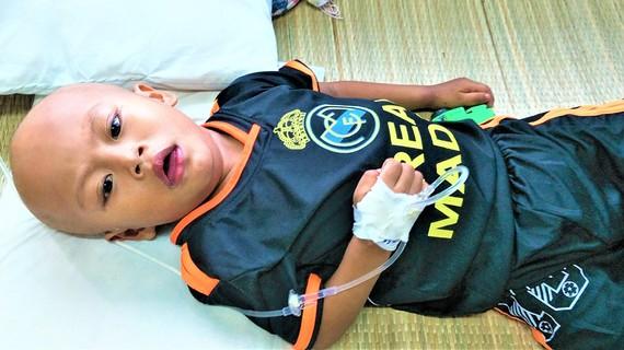 Bé Trần Hoàng Quân, 4 tuổi đang bị ung thư máu