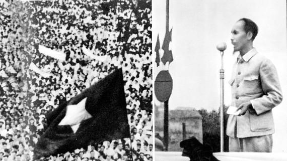 Chủ tịch Hồ Chí Minh đọc Tuyên ngôn Độc lập 2-9-1945. Ảnh: TƯ LIỆU