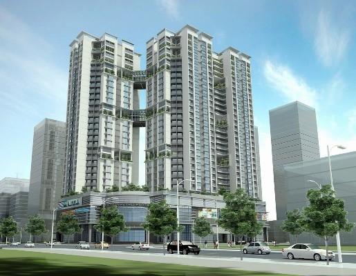Phối cảnh tòa tháp đôi nhà hỗn hợp HH1 Liên doanh Việt – Nga Vietsovpetro