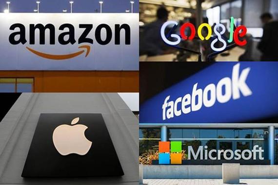 5 tập đoàn Facebook, Google, Amazon, Microsoft và Apple nằm trong nhóm các doanh nghiệp bị đề nghị áp thuế kỹ thuật số
