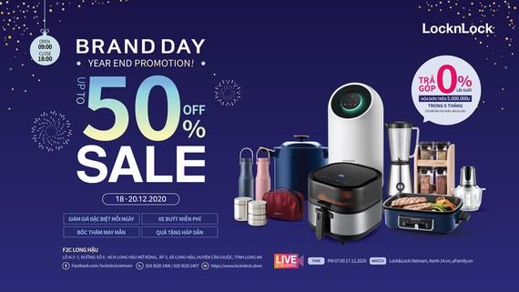 LOCK&LOCK ưu đãi giảm giá 50% trong sự kiện Brand Day mùa mua sắm cuối năm