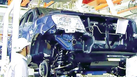 Một nhà máy sản xuất ô tô tại Thái Lan