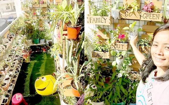 Một khu vườn trên ban công ở Dubai