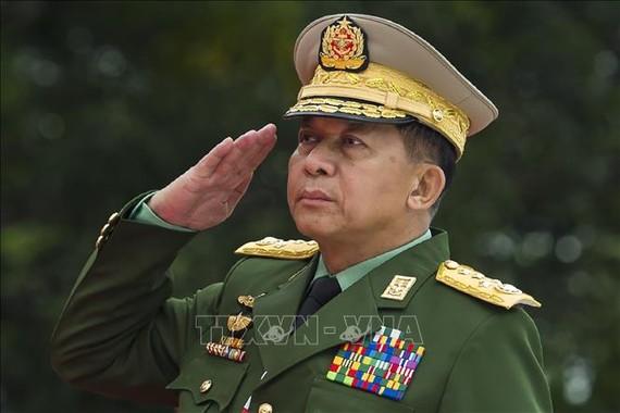 Tổng Tư lệnh các lực lượng vũ trang Min Aung Hlaing. Ảnh: AFP/TTXVN