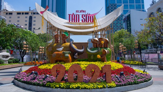 Đường hoa Nguyễn Huệ Tết Tân Sửu 2021