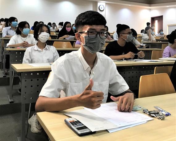 Thí sinh thi đánh giá năng lực do ĐH Quốc gia TPHCM tổ chức ngày 28-3-2021