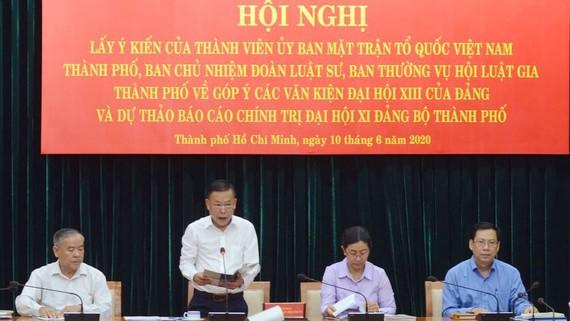 Đồng chí Nguyễn Hữu Hiệp phát biểu khai mạc hội nghị