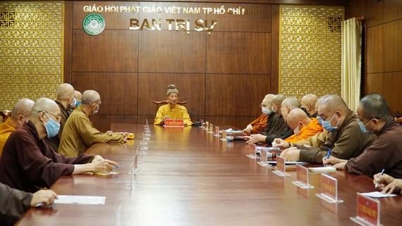 Ban Thường trực Ban Trị sự Giáo hội Phật giáo Việt Nam TPHCM họp phiên bất thường sáng nay 5-9