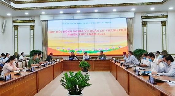 Phiên họp thứ nhất Hội đồng NVQS TPHCM dưới sự chủ trì của Chủ tịch UBND Nguyễn Thành Phong