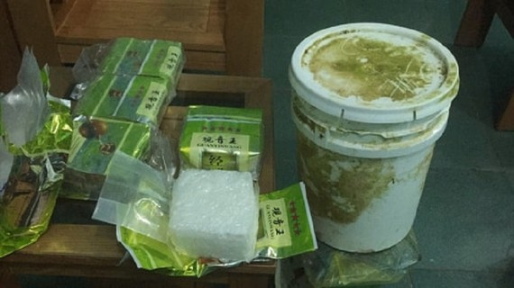 Số gói nghi ma túy được bộ đội biên phòng thu giữ