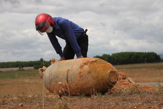 Quả bom đươc phát hiện thuộc loại 750LB M117 trọng lượng 334kg