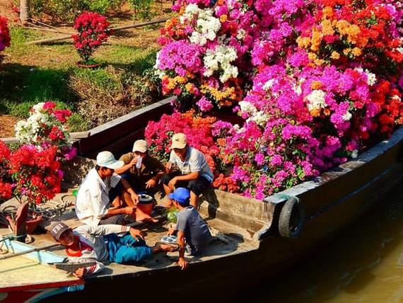 Trái cây tạo hình, hoa kiểng chuẩn bị ra phố chợ ở miền Tây
