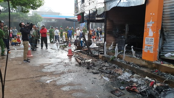 Hiện trường vụ cháy khiến 2 người thiệt mạng