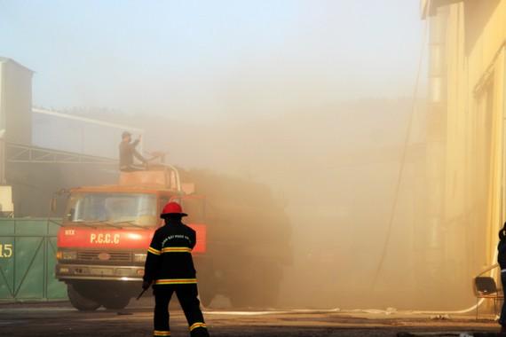 Lại xảy ra cháy lớn tại khu công nghiệp Phú Tài, Bình Định