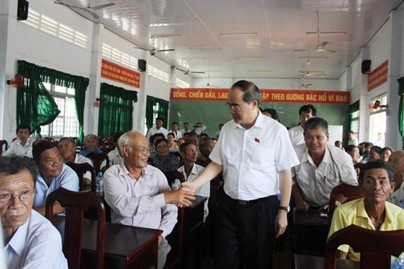 Đồng chí Nguyễn Thiện Nhân gặp gỡ cử tri tỉnh Trà Vinh