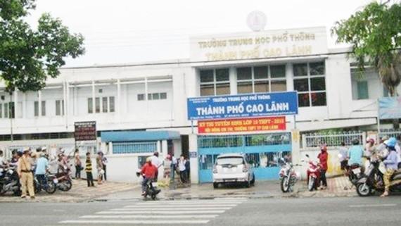 Trường THPT TP Cao Lãnh nơi ông Bùi. N. A công tác