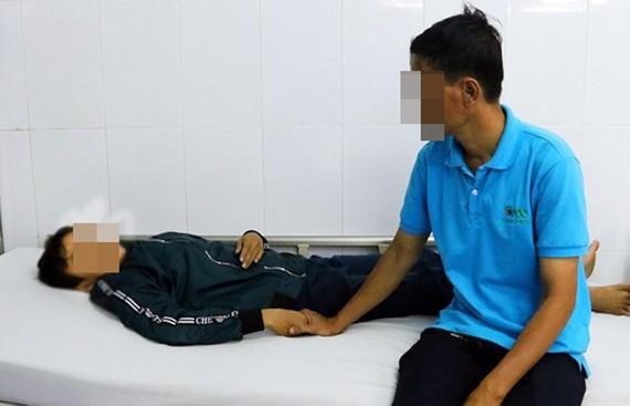 Học sinh Nguyễn H.T. bị đa chấn thương.
