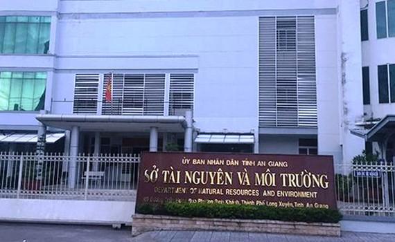 Sở TN-MT tỉnh An Giang, nơi ông Trần Đặng Đức công tác