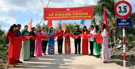 Khánh thành cầu nông thôn Kênh Lũy vào ngày 8-9