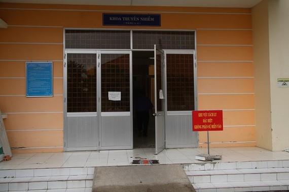 Khu cách ly ở Bệnh viện đa khoa Sa Đéc - nơi từng điều trị cho BN 1.452