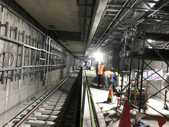 Ga ngầm khu vực Bến Thành tuyến Metro số 1 Bến Thành- Suối Tiên. Ảnh: QUỐC HÙNG