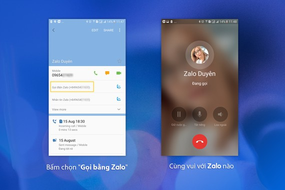 Zalo giúp gọi điện miễn phí cực nhanh, không cần mở ứng dụng