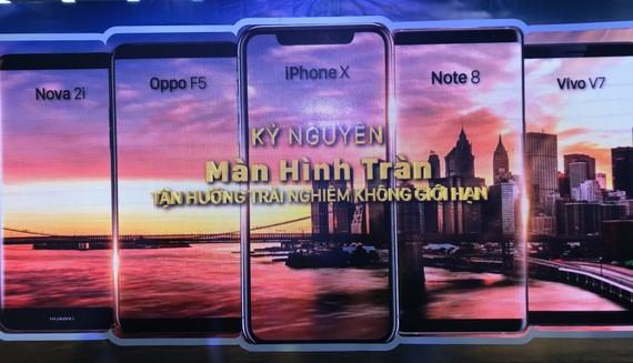 Năm hãng di động thiết bị với màn hình tràn tại Thế Giới Di Động