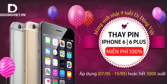 Di Động Việt đang thay pin miễn phí cho iPhone 6/6S