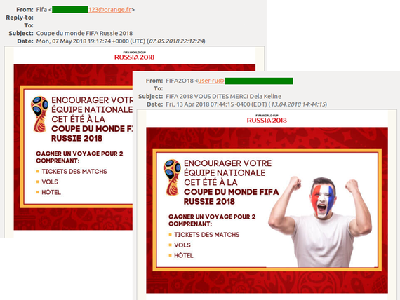 Các email lừa mua vé World Cup 2018