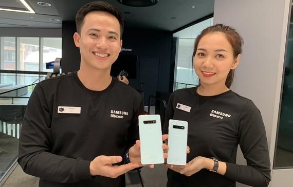Những chiếc Galaxy S10 có mặt tại Việt Nam trong sự kiện giới thiệu của SamSung Việt Nam