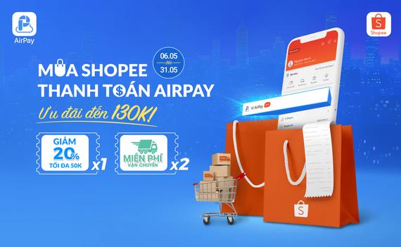 Dễ dàng thanh toán trên Shopee nhờ AirPay