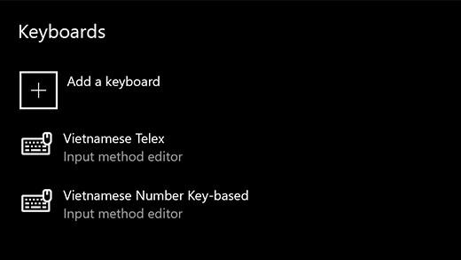 Microsoft chính thức đưa bộ gõ tiếng Việt vào Windows 10 19H1 Update