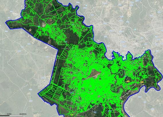 Bản đồ vùng phỉ sóng IoT tại TPHCM