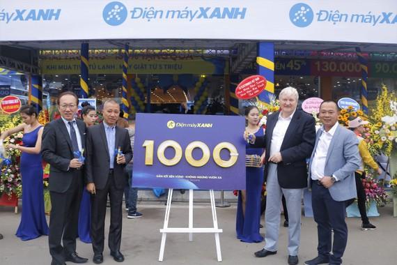 Điện máy Xanh vượt mốc 1000 siêu thị đạt trên 40% thị phần trong ngành bán lẻ điện máy