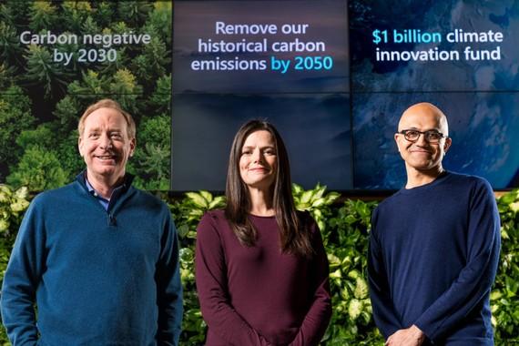 Microsoft mong muốn sẽ bù lại được lượng carbon mà tập đoàn đã thải ra trực tiếp