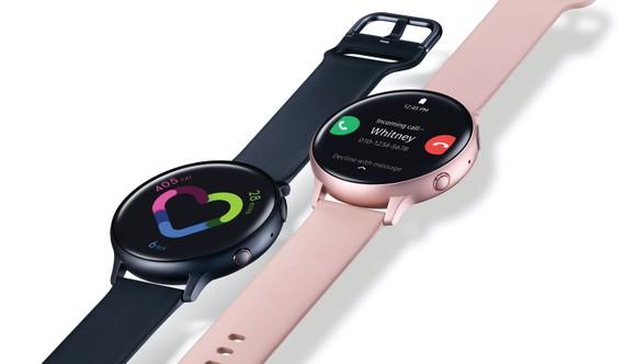 Galaxy Watch Active2 phiên bản LTE với màu Đen và Vàng hồng