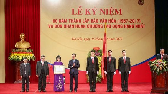 Báo Văn hóa được trao tặng Huân chương Lao động hạng Nhất