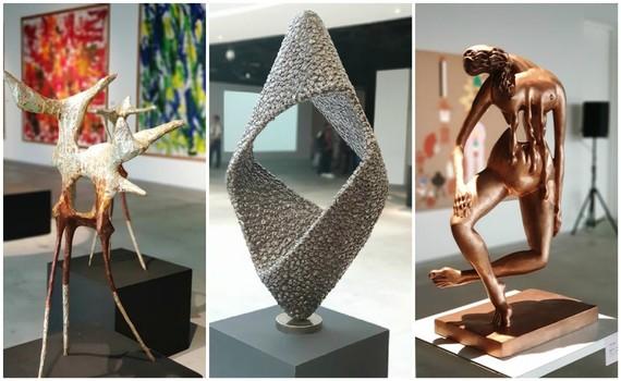 Các tác phẩm trưng bày trong triển lãm được tuyển chọn công phu