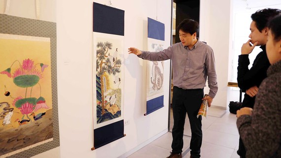 Triển lãm mang đến nhiều khám phá mới về dòng tranh lâu đời của Hàn Quốc