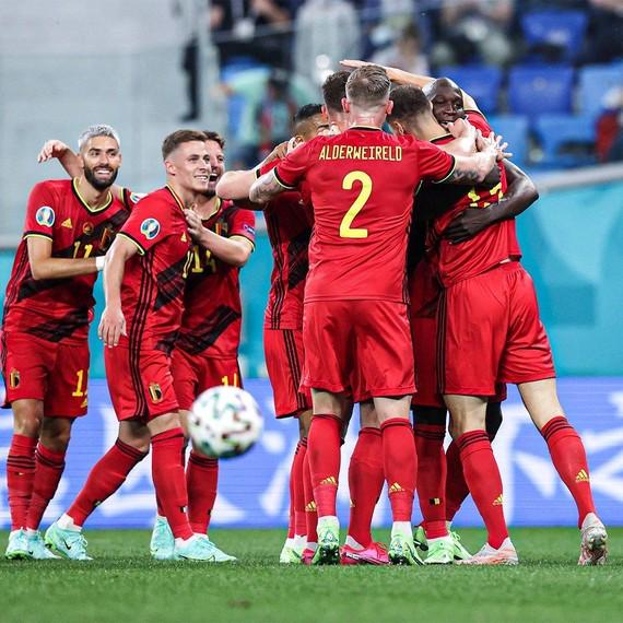 比利時球員慶祝進球(圖源:互聯網)
