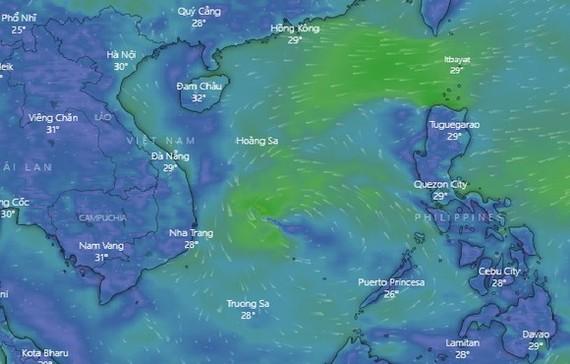 低壓區致西原與南部強降雨