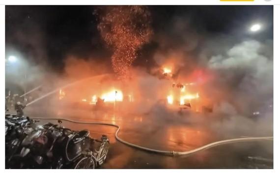火警現場。(圖源:互聯網)