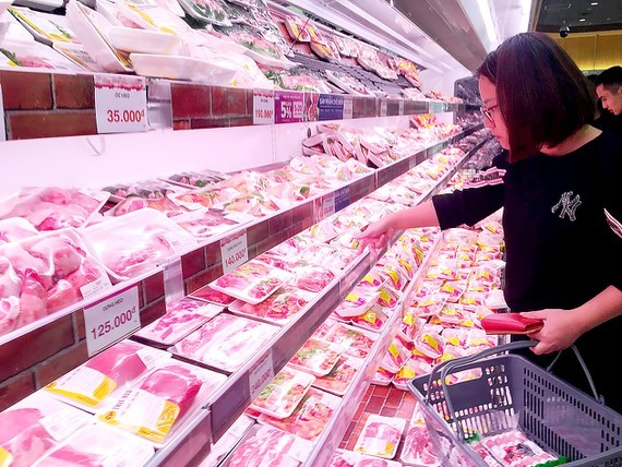 HCMC encourages people to use frozen pork