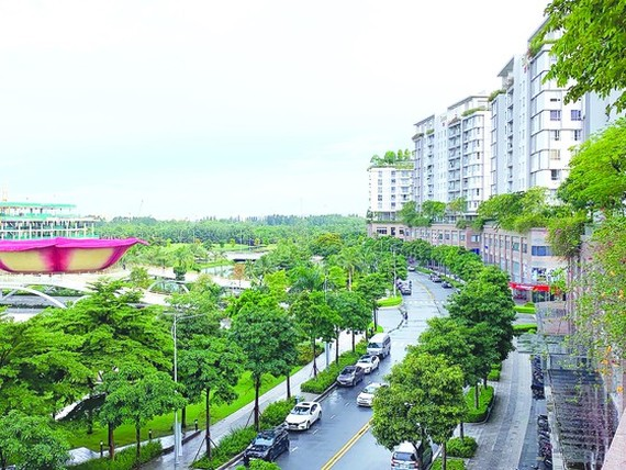 A luxury residential project in District 2 in Ho Chi Minh City. (Photo: SGGP)