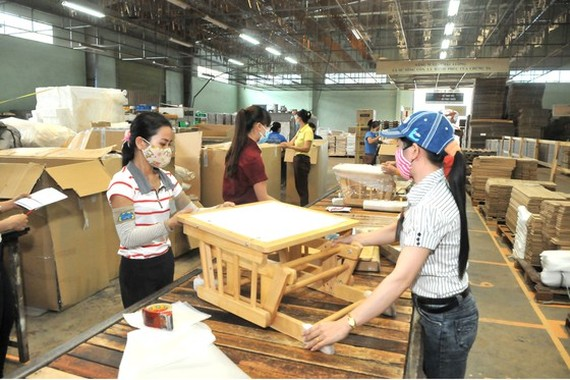 Vietnam's wooden products are fond of by the global market. (Photo: SGGP)