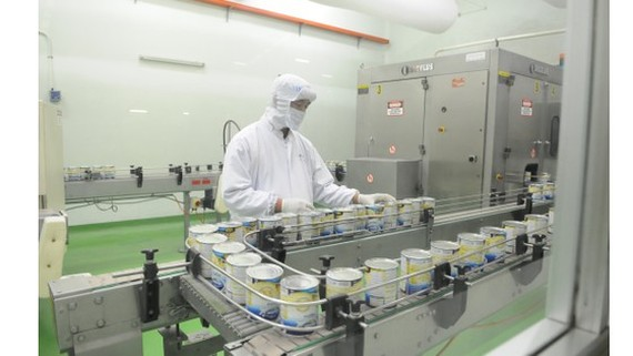 The production of dairy products at Vinamilk. (Photo: SGGP)