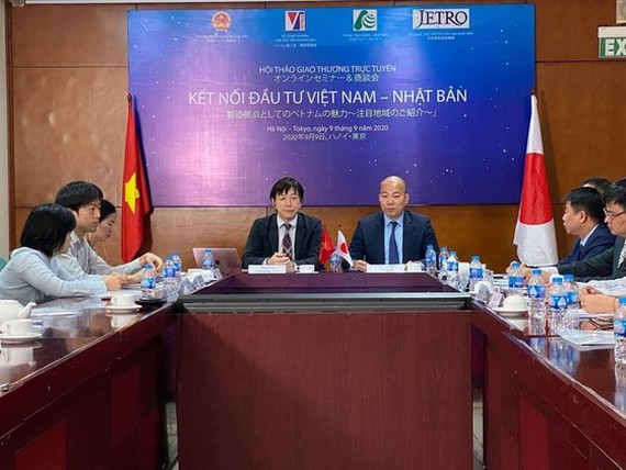 The Vietnam - Japan Investment Connection Conference 2020 held on September 9 by the Ministry of Industry and Trade. (Photo: SGGP)