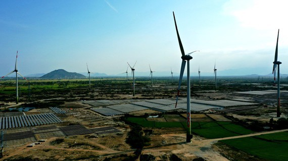 A solar power and wind power complex in Ninh Thuan Province (Photo: SGGP)