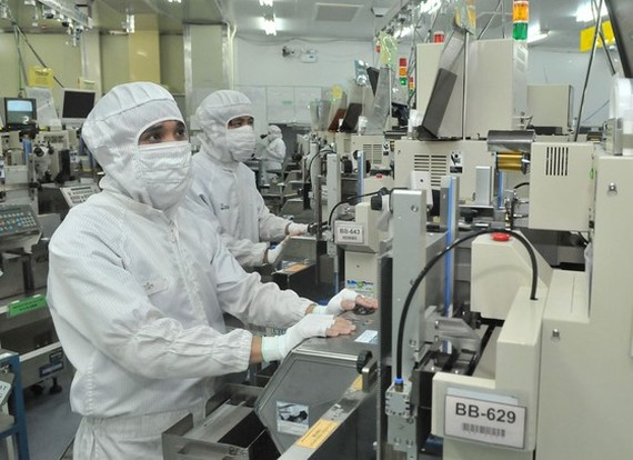 Production at a Japanese company in Tan Thuan Export Processing Zone in HCMC. (Photo: SGGP)